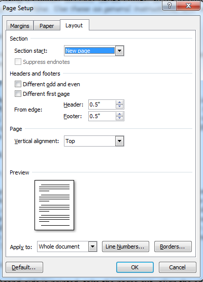 Snip - Page Set up - PAge Layout