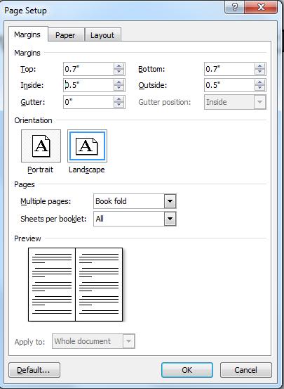 Snip - Page Set Up