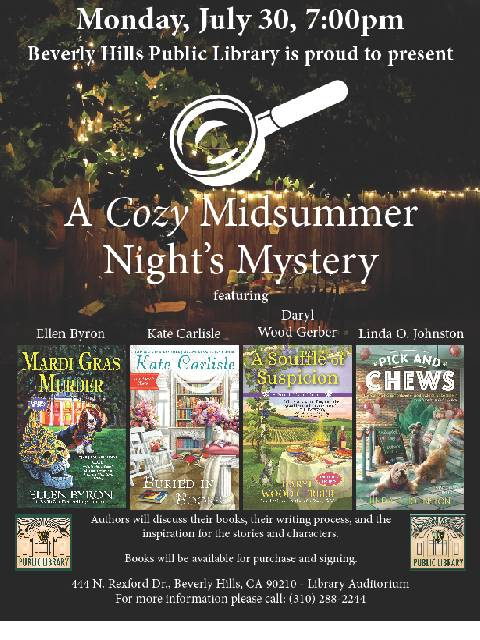 Cozy Mysteries Linda July 30 2018