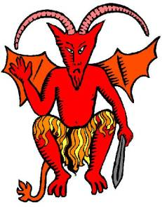 Devil with sword