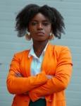afro in orange
